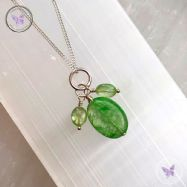 Green Kyanite Pendant Necklace